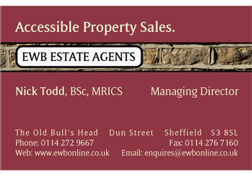 EWB Estate Agents Business Card