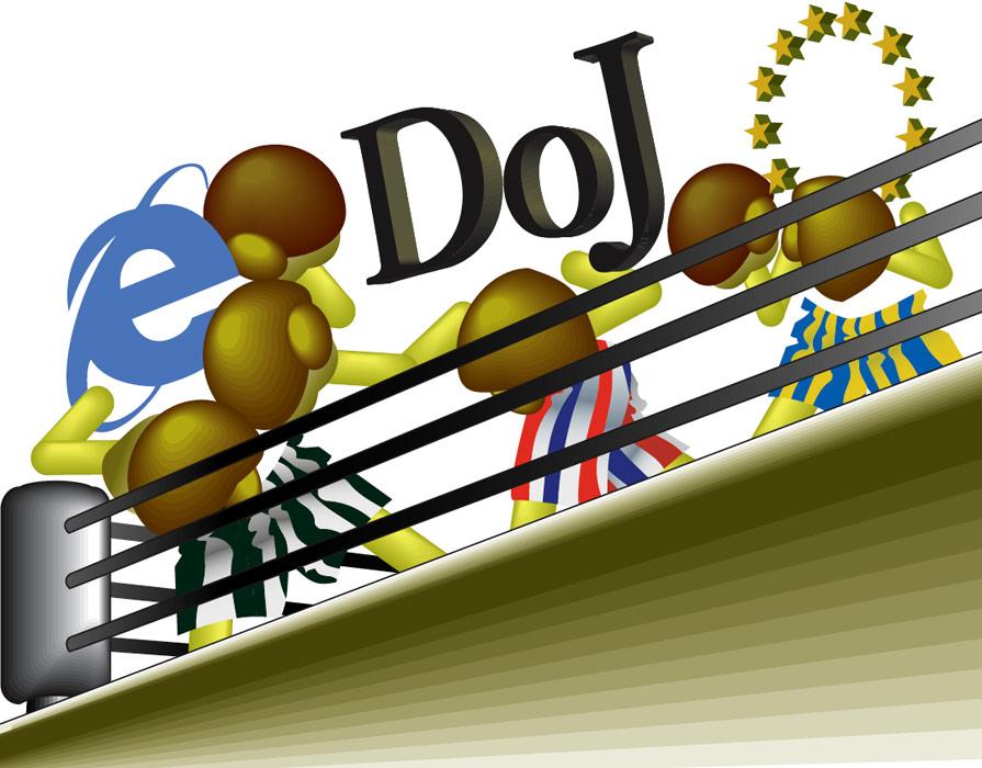 Illustration: Microsoft Antitrust Trial