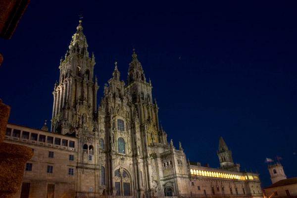 Cathedral of Santiago de Compostela at Night