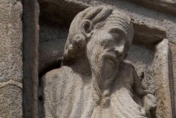 Prophet by Master Mateo, Cathedral of Santiago de Compostela