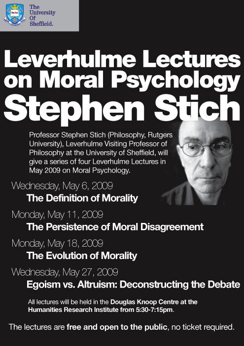 Stich Leverhulme Lectures