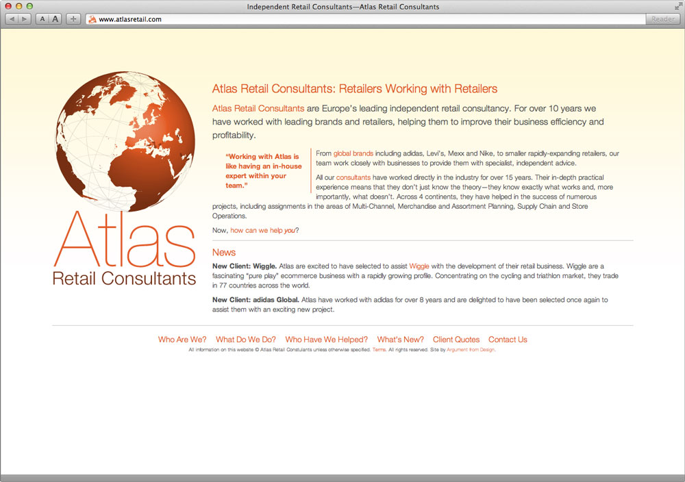Atlas Retail Website