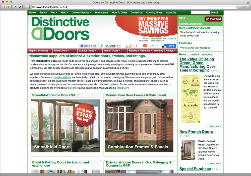 Distinctive Doors Website