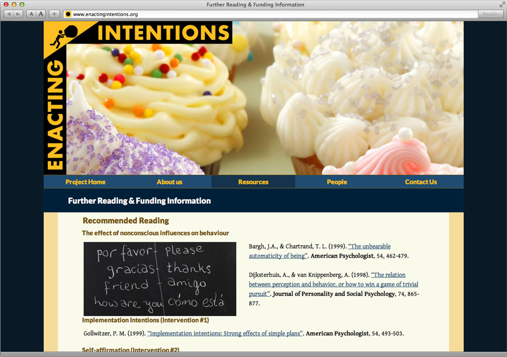 Enacting Intentions website