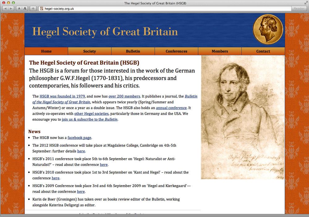 Hegel Society Website
