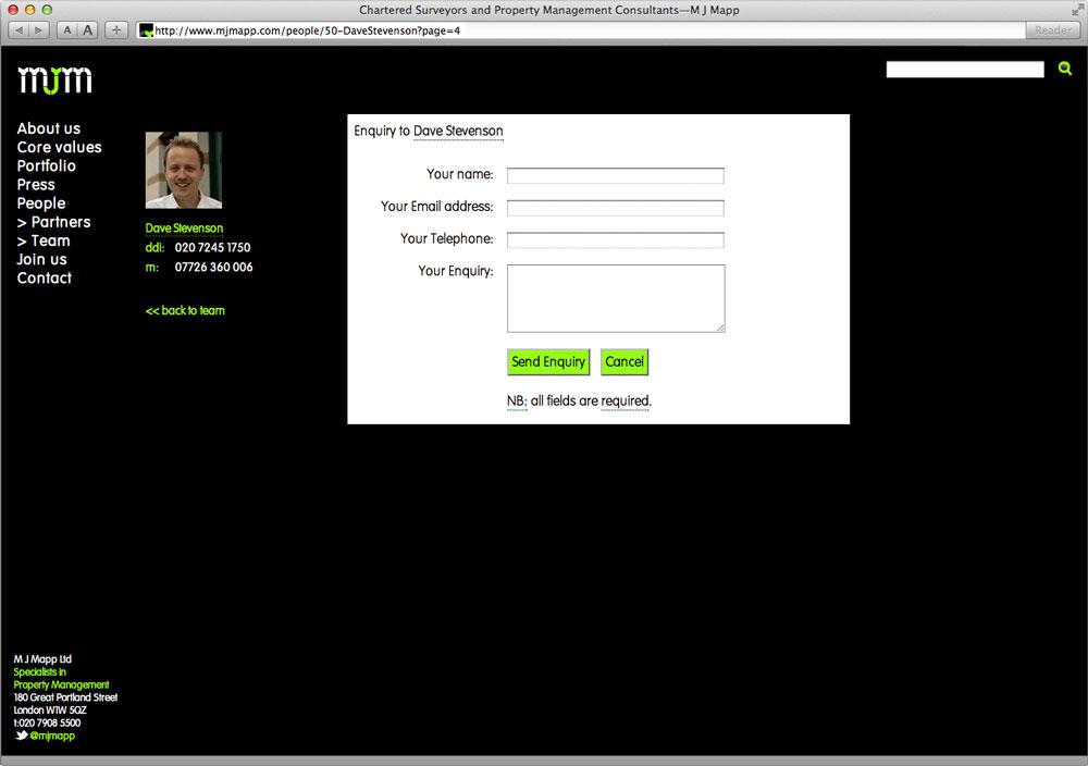 MJMapp Website